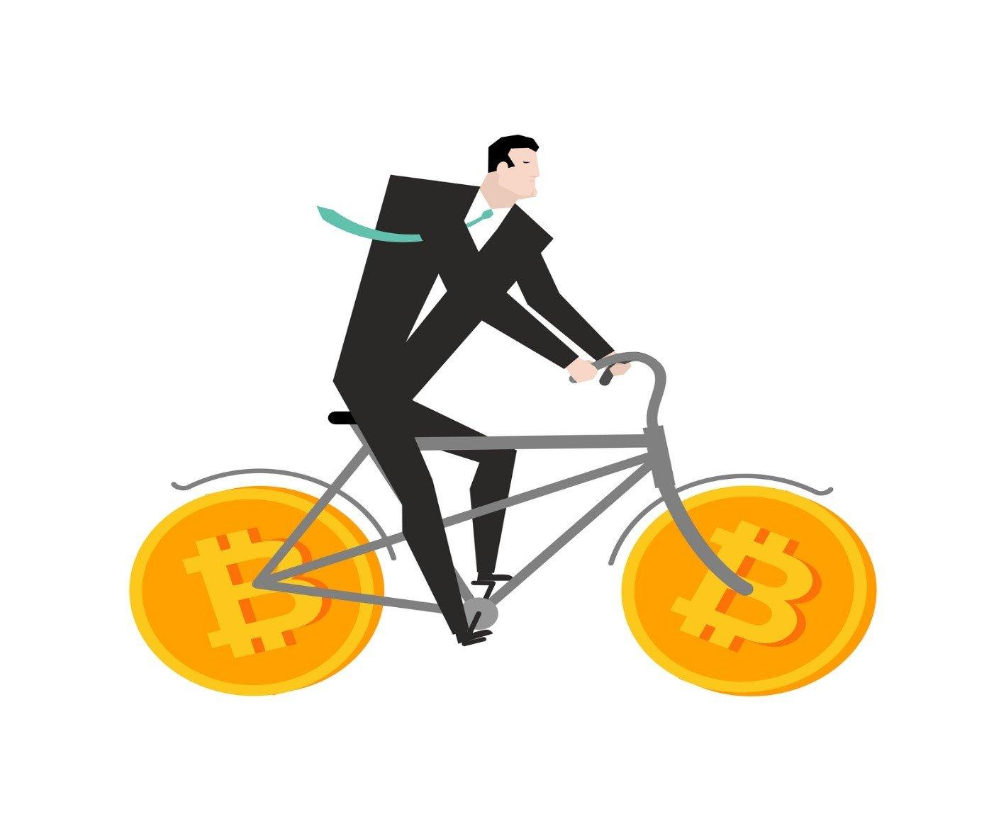 استفاده از دوچرخه های الکتریکی برای عمل mining