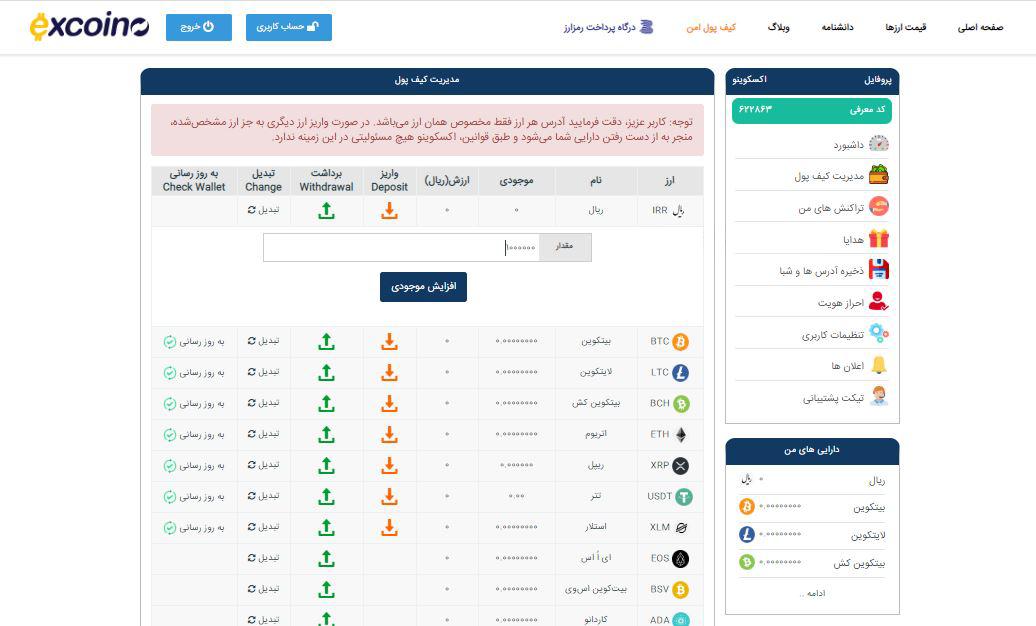 راهنمای خرید و فروش رمز ارزها د اکسکوینو